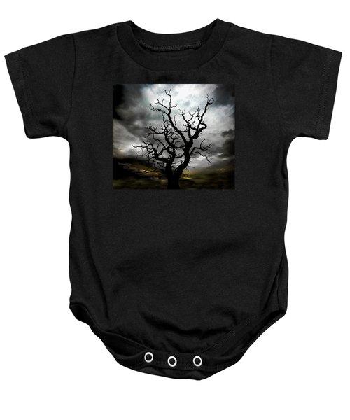 Skeletal Tree Baby Onesie