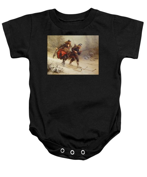 Skiing Birchlegs Crossing The Mountain With The Royal Child Baby Onesie