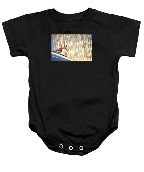 Skiing In Aspen, Colorado Baby Onesie