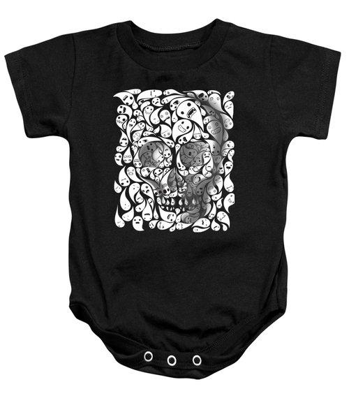 Skull Doodle Baby Onesie