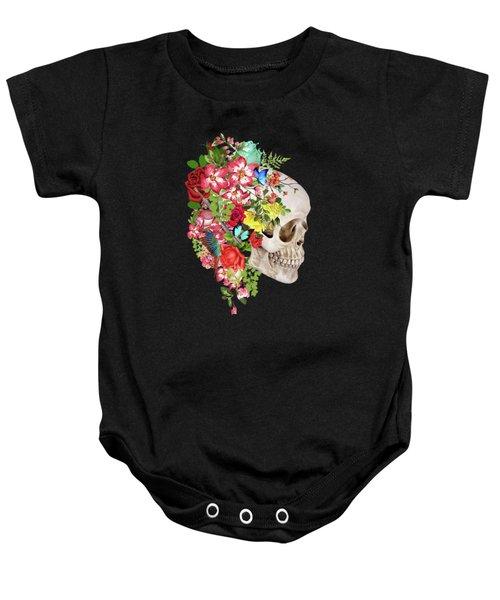 Skull Floral Baby Onesie