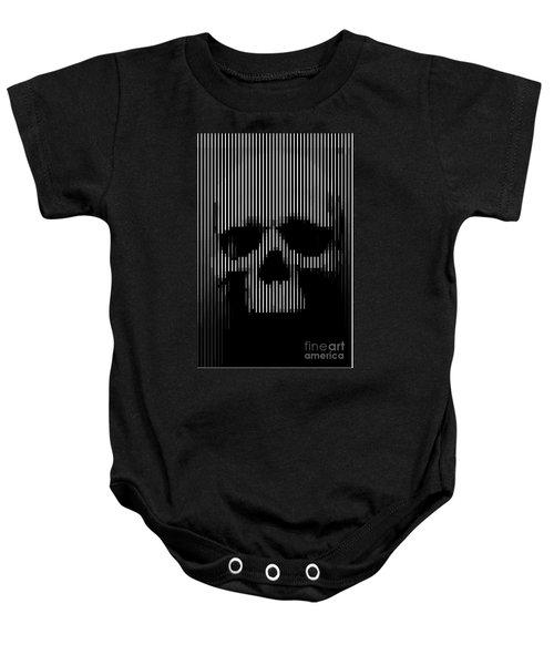 Skull Lines Baby Onesie