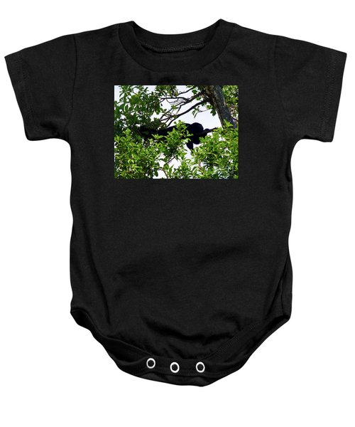 Baby Onesie featuring the photograph Sleeping Monkey by Francesca Mackenney