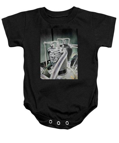 Small Radial Engine Baby Onesie