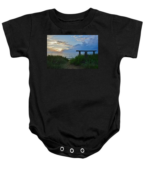 Small World Sunrise   Baby Onesie