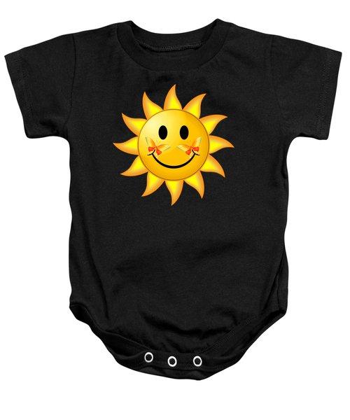 Smiley Face Sun Baby Onesie
