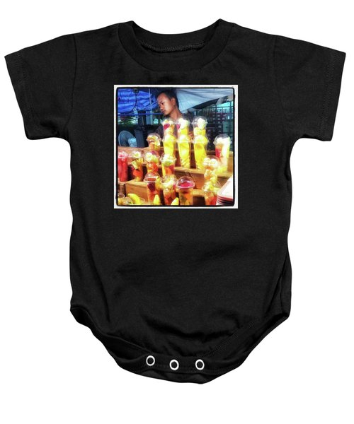 Baby Onesie featuring the photograph Smoothie Nirvana. Choose A Cup Of by Mr Photojimsf