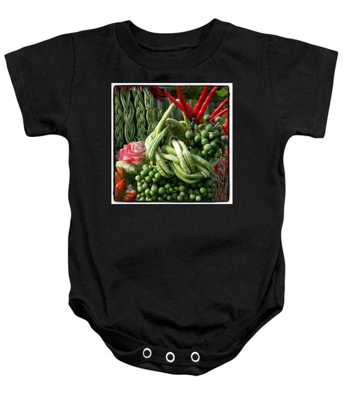 Baby Onesie featuring the photograph Snake Beans. At The Surin Elephant by Mr Photojimsf