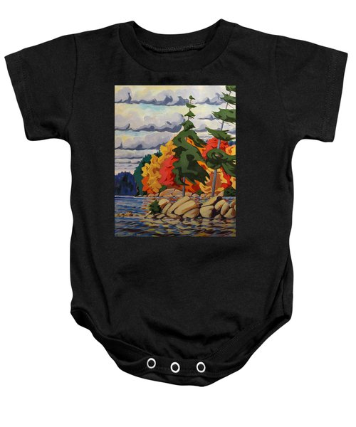 Snake Island In Fall-close Baby Onesie