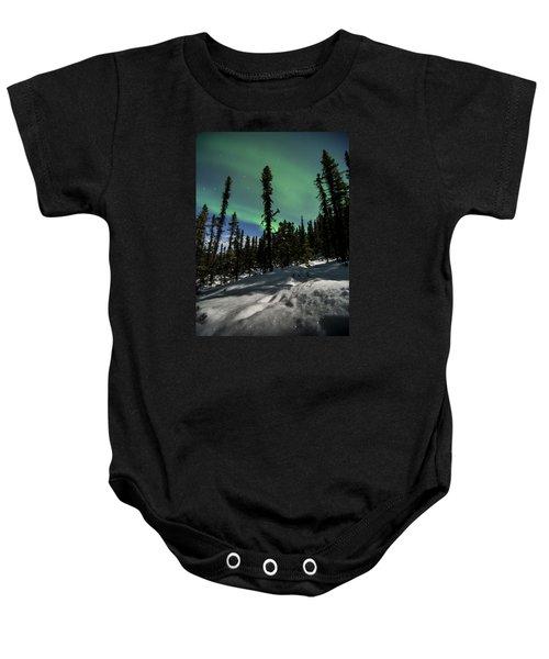 Snow Trails  Baby Onesie