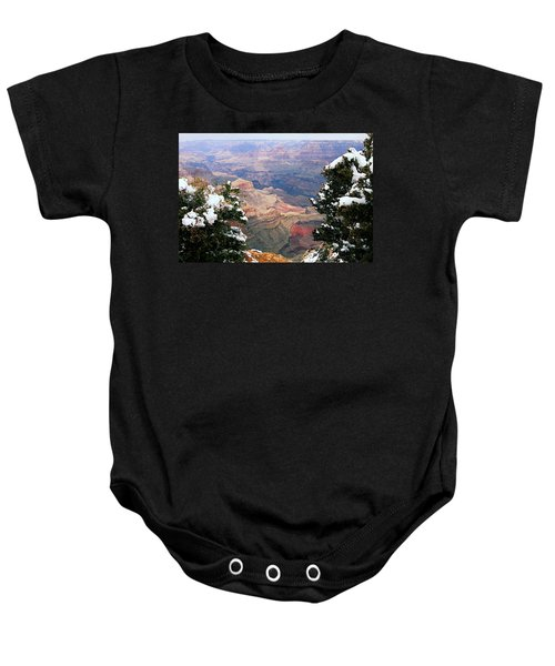 Snowy Dropoff - Grand Canyon Baby Onesie