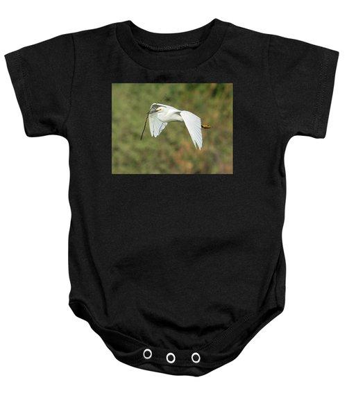 Snowy Egret 4786-091017-1cr Baby Onesie