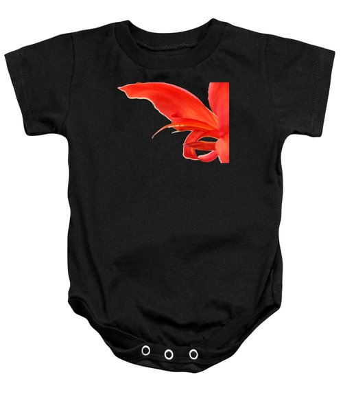 Softly Red Canna Lily Baby Onesie