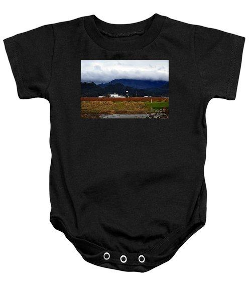 Soggy Farmstead Baby Onesie