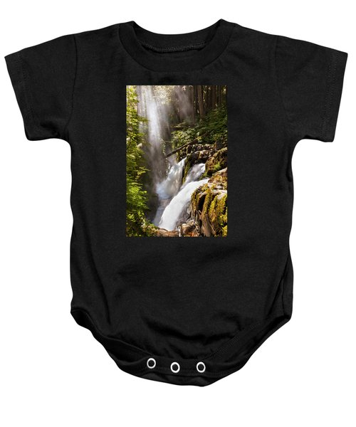 Baby Onesie featuring the photograph Sol Duc Falls by Adam Romanowicz