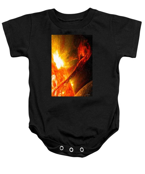 Solar Mass Ejection Baby Onesie