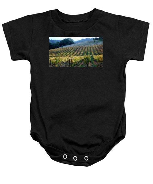 Sonoma County Vineyards Near Healdsburg Baby Onesie