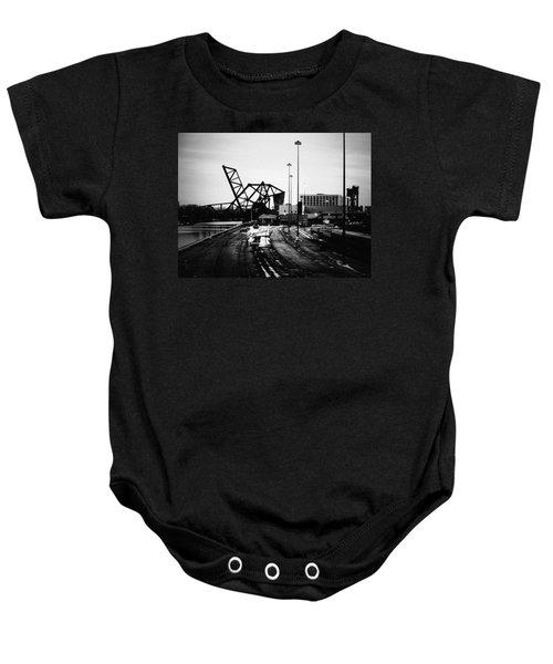 South Loop Railroad Bridge Baby Onesie