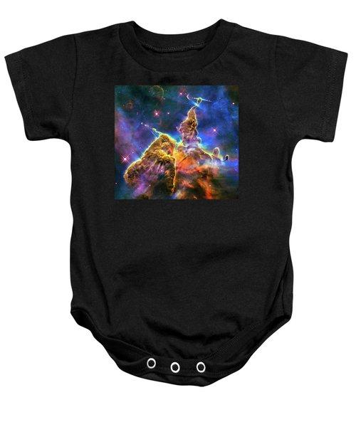 Space Image Mystic Mountain Carina Nebula Baby Onesie by Matthias Hauser