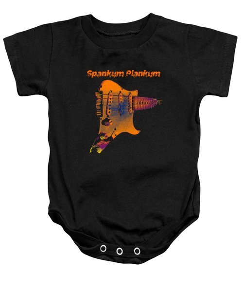 Baby Onesie featuring the photograph Spankum Plankum by Guitar Wacky