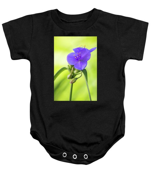 Spiderwort Wildflower Baby Onesie