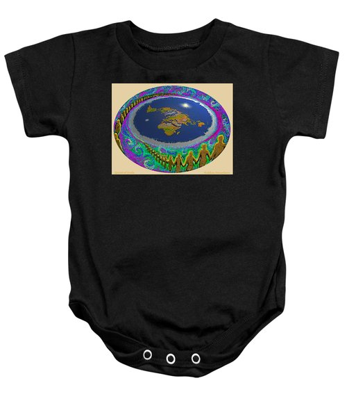Spiral Of Souls Flat Earth Baby Onesie