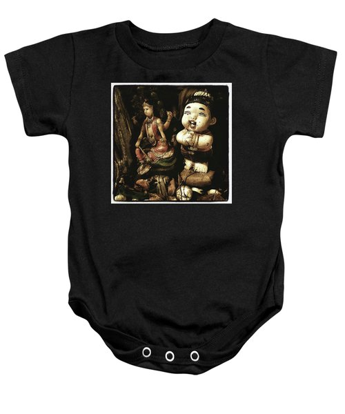 Baby Onesie featuring the photograph Spirit Cemetery. When A Business Or by Mr Photojimsf