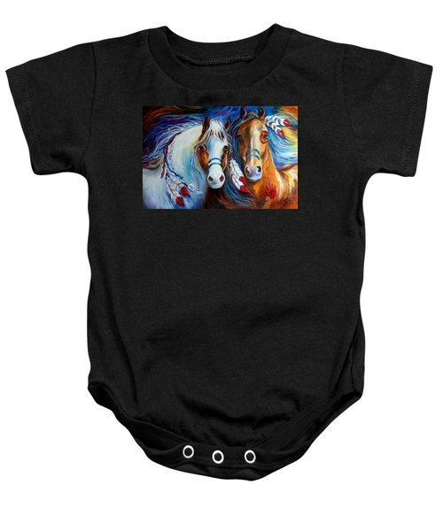 Spirit Indian War Horses Commission Baby Onesie