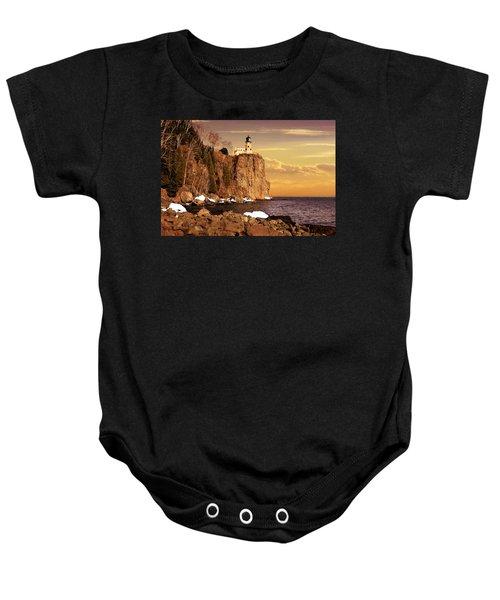 Split Rock Lighthouse Baby Onesie