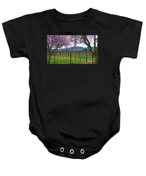 Spring Blossoms Near Calistoga Baby Onesie