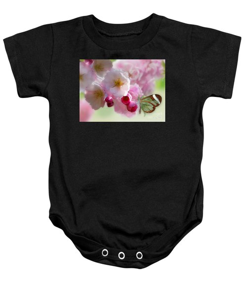 Baby Onesie featuring the photograph Spring Cherry Blossom by Morag Bates