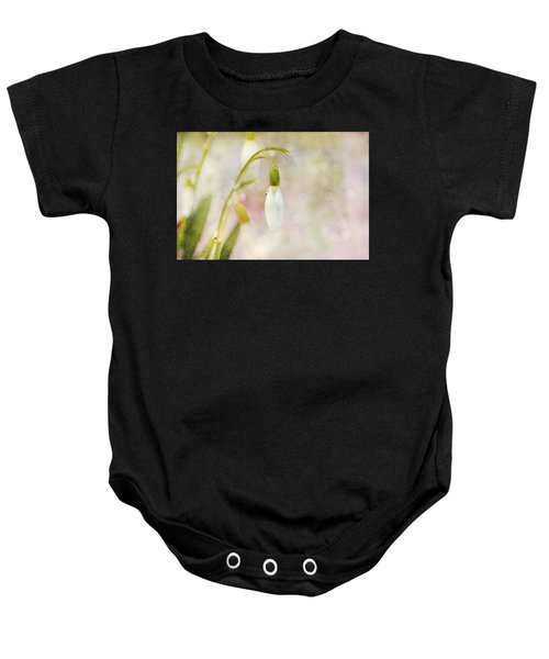 Spring Snowdrops And Bokeh Baby Onesie