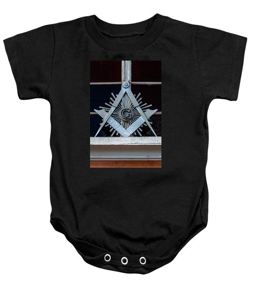 Square And Compass Baby Onesie