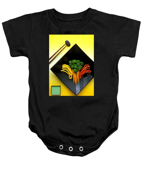 Square Plate Baby Onesie