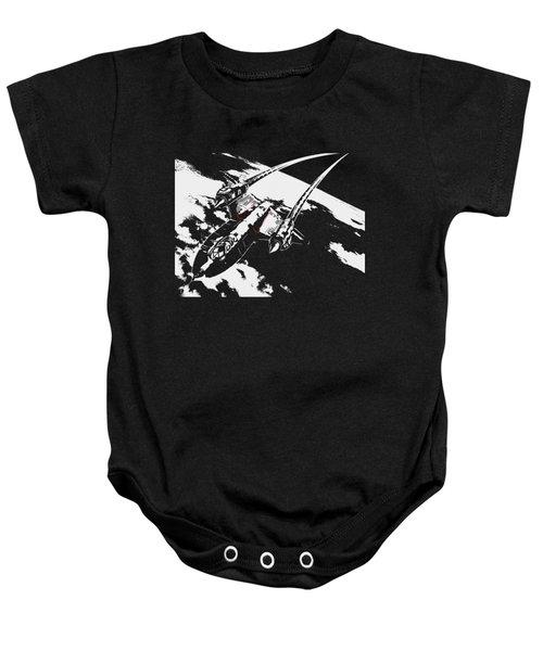 Sr-71 Flying High Baby Onesie by Ewan Tallentire