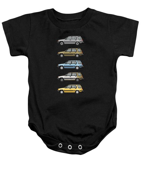 Stack Of Mark's Toyota Tercel Al25 Wagons Baby Onesie