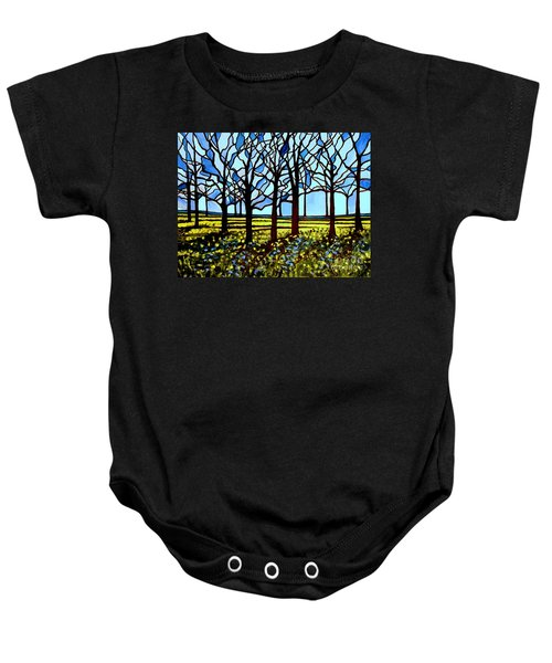 Stained Glass Trees Baby Onesie
