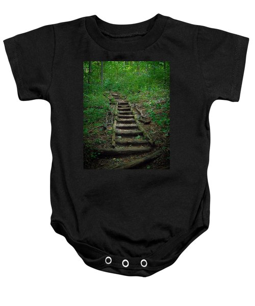 Stairway At Unicoi Gap On The At Baby Onesie