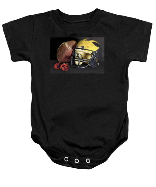 Stan Edwards's Autographed Helmet With Roses Baby Onesie