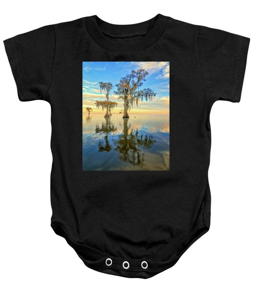 Standing On The Edge Baby Onesie