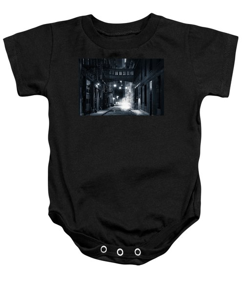 Staple Street Skybridge By Night Baby Onesie
