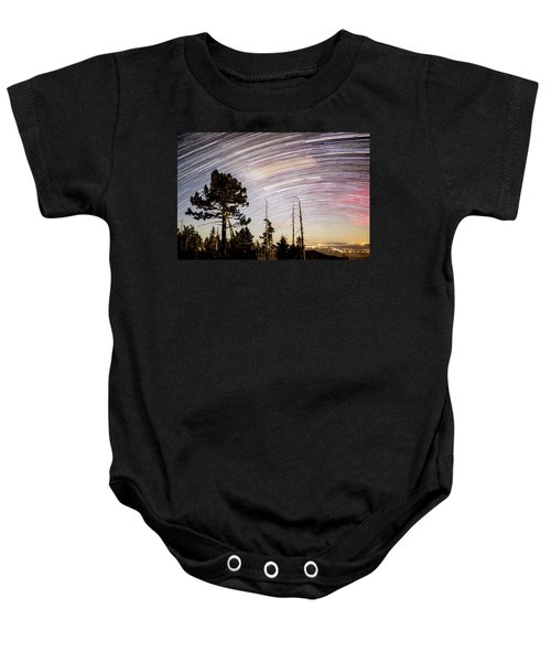 Star Trails At Fort Grant Baby Onesie