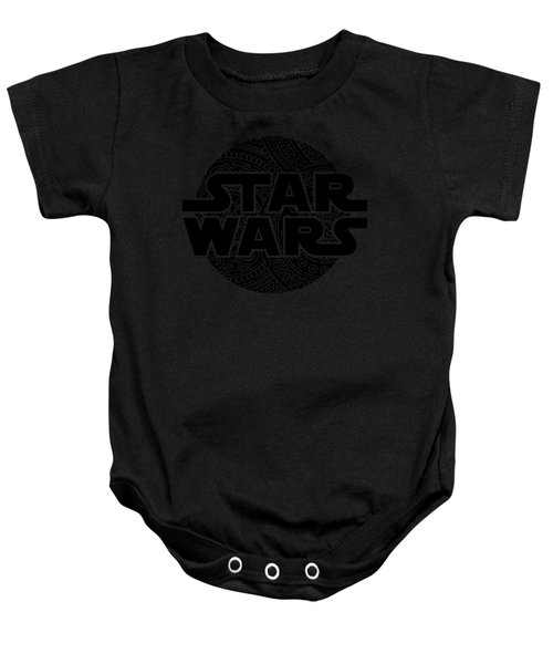Star Wars Art - Logo - Black Baby Onesie
