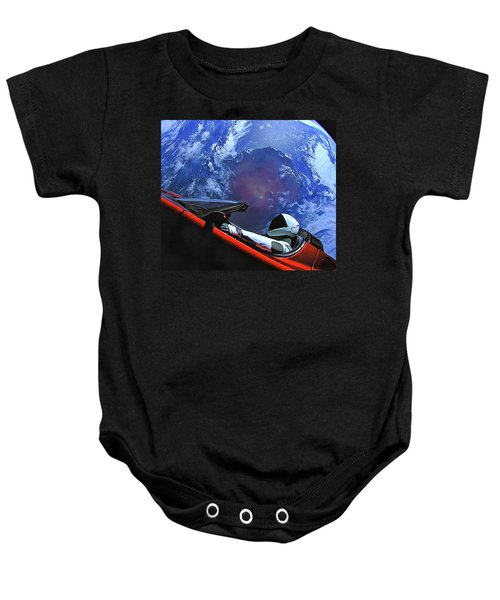 Starman In Tesla With Planet Earth Baby Onesie