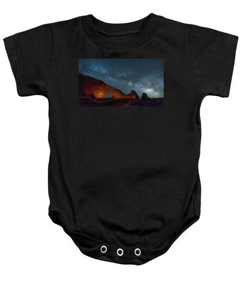 Starry Night At North Window Rock Baby Onesie