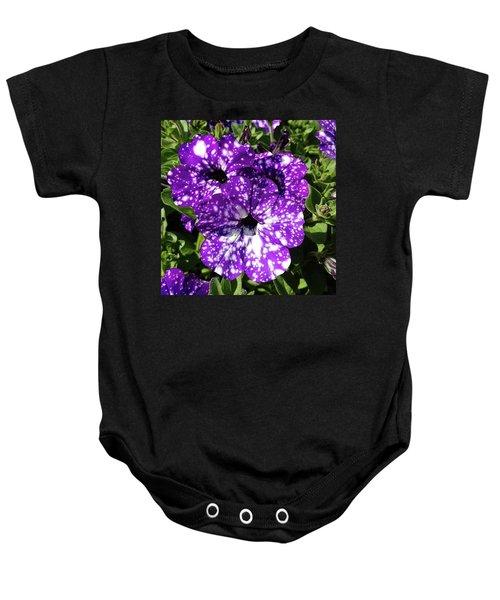 Starry Petunias... Baby Onesie