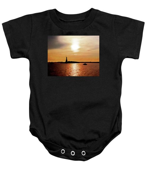 Statue Of Liberty At Sunset Baby Onesie