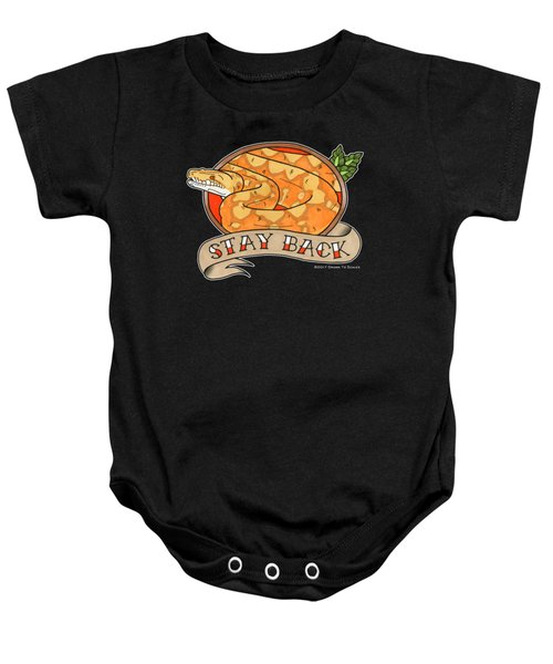 Stay Back Reticulated Python Baby Onesie