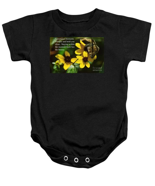 Staying Within The Moment Baby Onesie