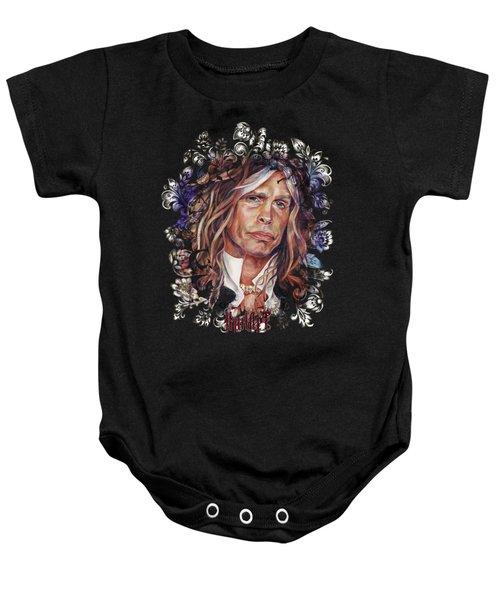 Steven Tyler Aerosmith Baby Onesie by Inna Volvak